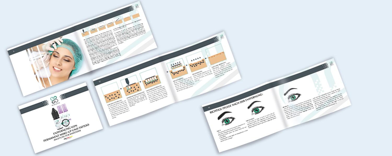 Grafikdesign Broschüre PermanentMakeup
