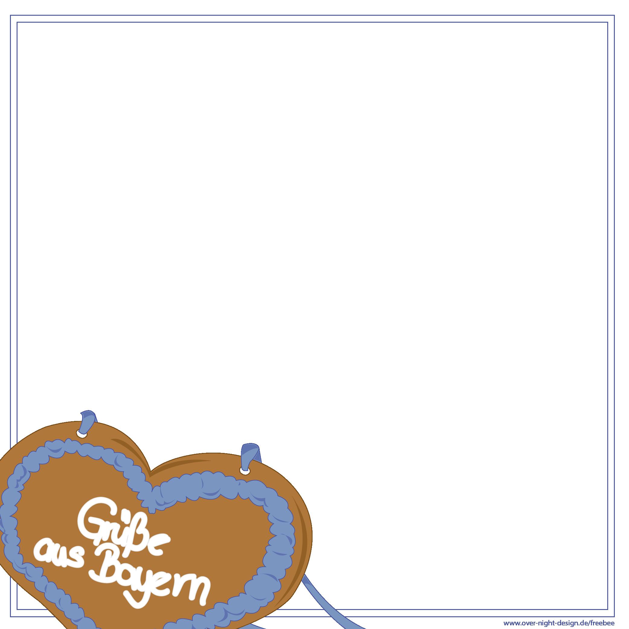 Lebkuchenherz Grüße aus Bayern