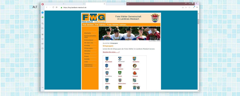 Alte Webseite der FWG Landkreis Miesbach