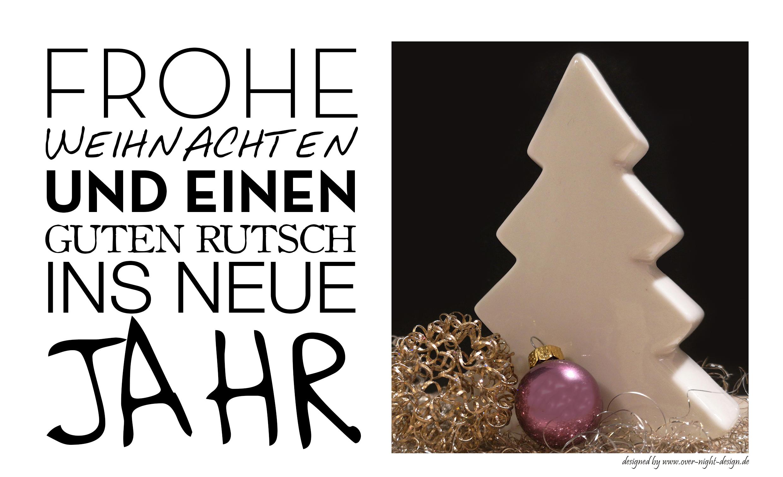 Weihnachtskarte verschiedeneSchriften